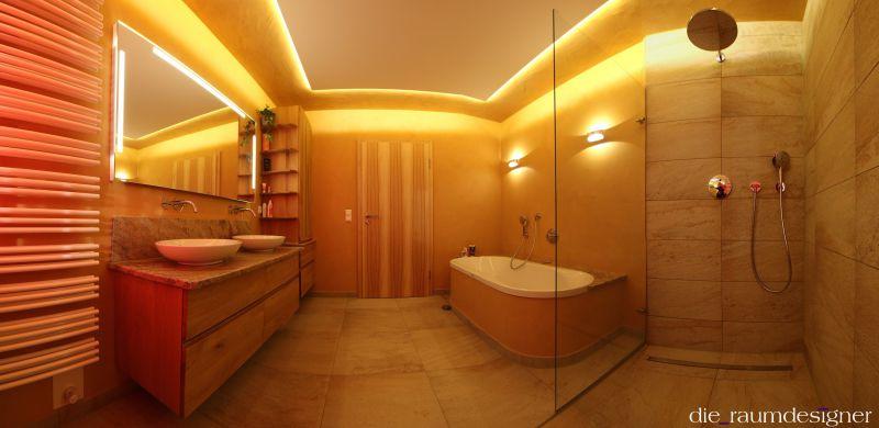 Wandgestaltung, Badsanierung, Kalkputz, Raumdesigner